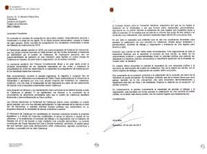 Carta President Mas al Presidente Rajoy
