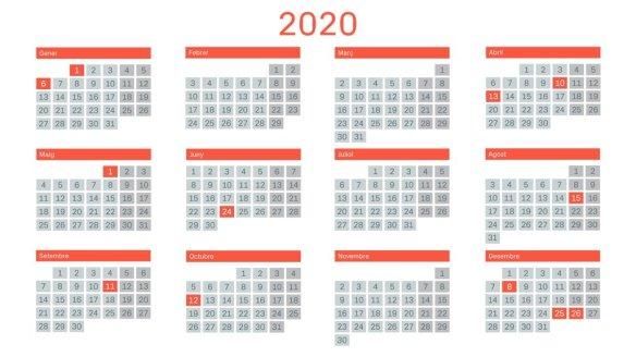 Calendario Catalunya 2020.Bellaterra Economia I Treball Calendari Laboral Del 2020 Tots Els